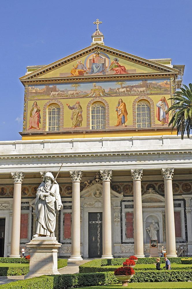 St. Paul Outside the Walls, Latin Sancti Pauli extra muros, Rome, Lazio, Italy, Europe