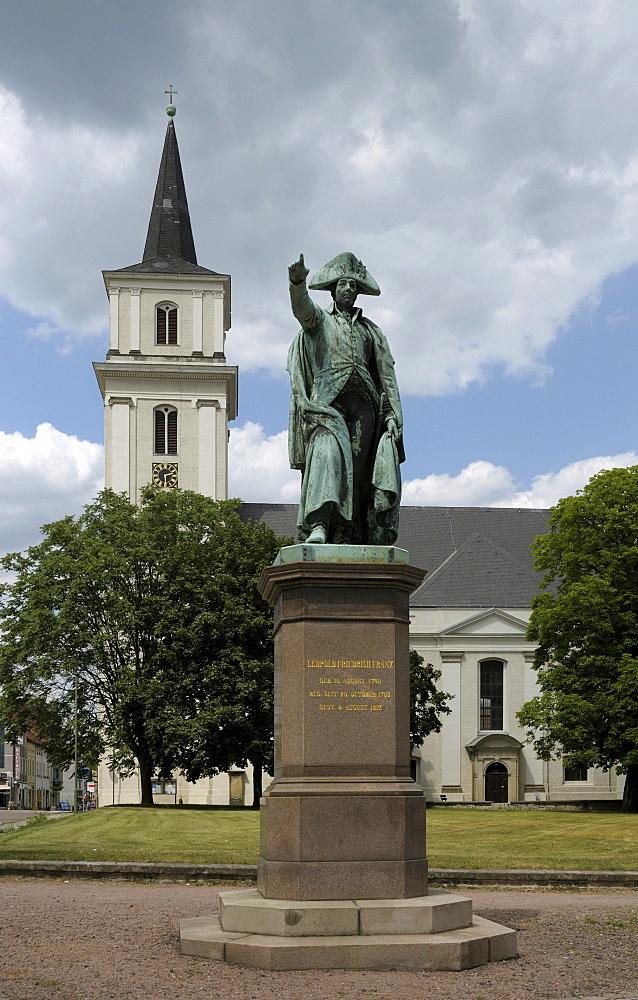 Vater Franz monument to Leopold III Frederick Franz, Duke of Anhalt-Dessau, St. John's Church, Dessau, Saxony-Anhalt, Germany, Europe