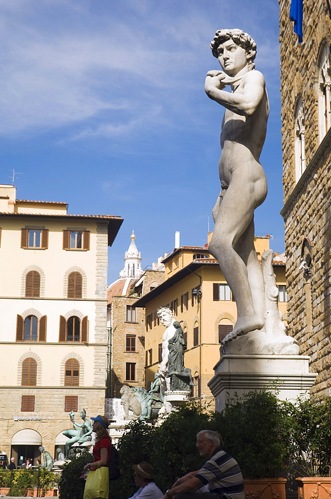 David statue by Michelangelo, Florence, Tuscany, Italy, Europe