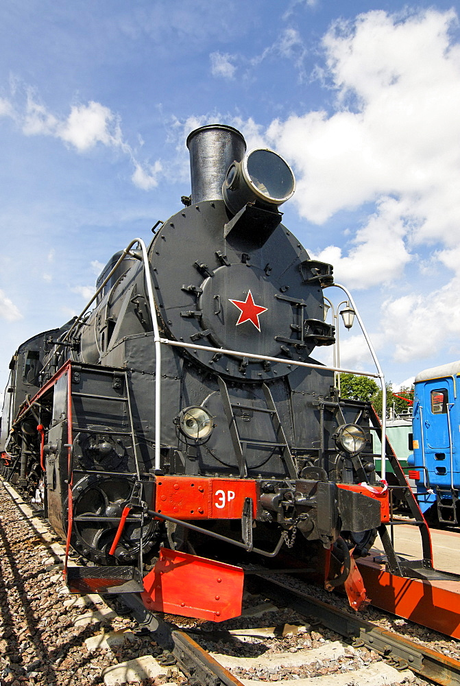 Soviet steam locomotive ER766, built in 1949