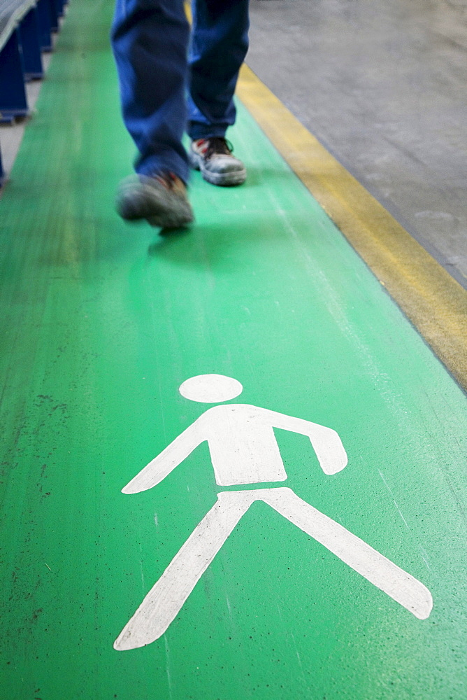 Pictogram, legs, walking zone, occupational safety and health