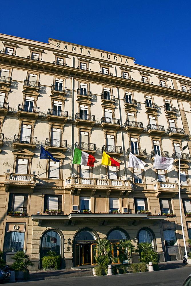 Grand Hotel Santa Lucia, 1900, architect Giovan Battista Comencini, Naples, Campania, Italy, Europe