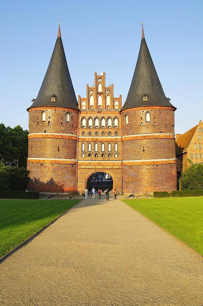Holstentor, Holsten Gate, in Luebeck, Schleswig-Holstein, Germany, Europe