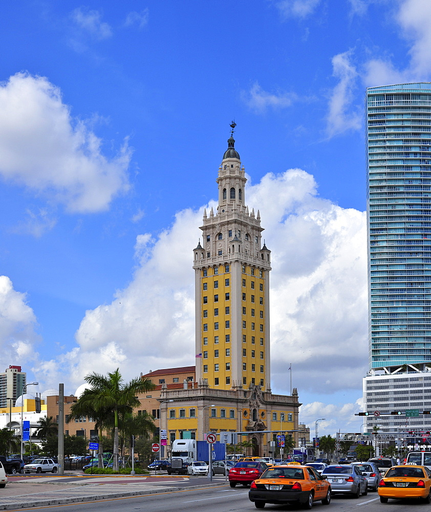 Freedom Tower memorial building in downtown Miami, Florida, USA