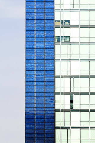 Office high-rise building with solar facade, Freiburg im Breisgau, Baden-Wuerttemberg, Germany, Europe