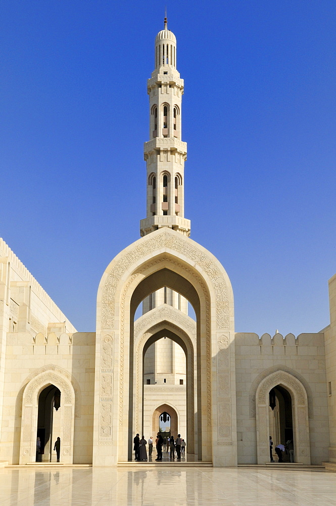 Sultan Qaboos Grand Mosque, Muscat, Sultanate of Oman, Arabia, Middle East
