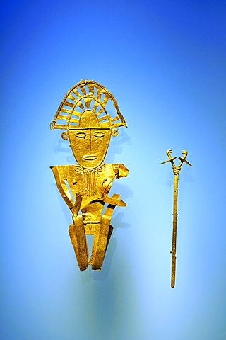 Pre-Columbian goldwork collection, Cacique, Gold Museum, Museo del Oro, Bogota, Colombia, South America