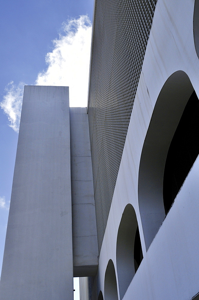 Biblioteca Nacional Leonel de Moura Brizola National Library, architect Oscar Niemeyer, Brasilia, Distrito Federal state, Brazil, South America