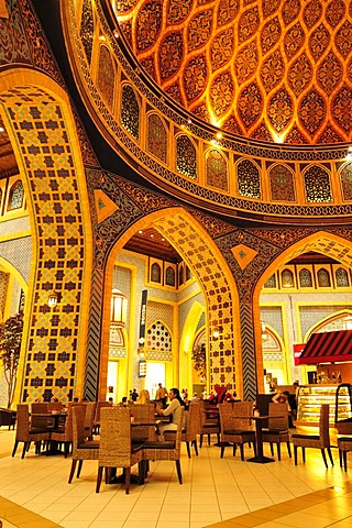 Cafe in the Persian part of the Ibn Battuta Mall, Shopping Mall, Dubai, United Arab Emirates, Arabia, Middle East, Orient