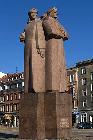 Monument for the Latviesu Strelnieki, Latvian Riflemen, Riga, Latvia, Baltic States, PublicGround