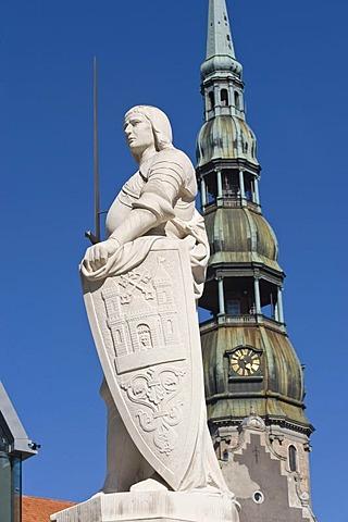 Roland Statue, Riga, Latvia, Baltic States, PublicGround