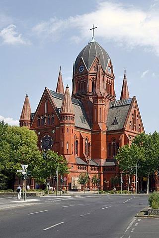 Heilig-Kreuz-Kirche, Holy Cross Church, in Berlin, Germany, Europe