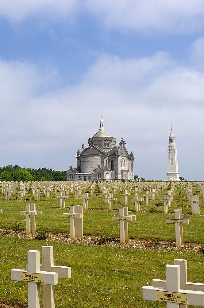 First World War Cemetery and Memorial at Notre Dame de Lorette, Pas-de-Calais, Somme valley, France, Europe