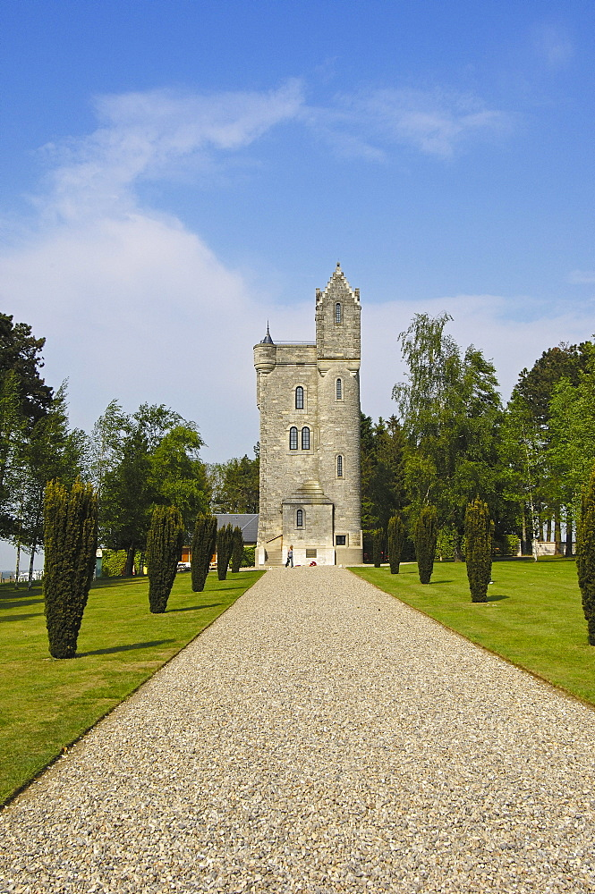 Ulster tower, British First World War Cemetery, Pas-de-Calais, Somme valley, France, Europe