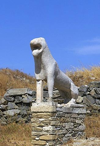 The Lion Terrace, Delos, Cyclades, Greece