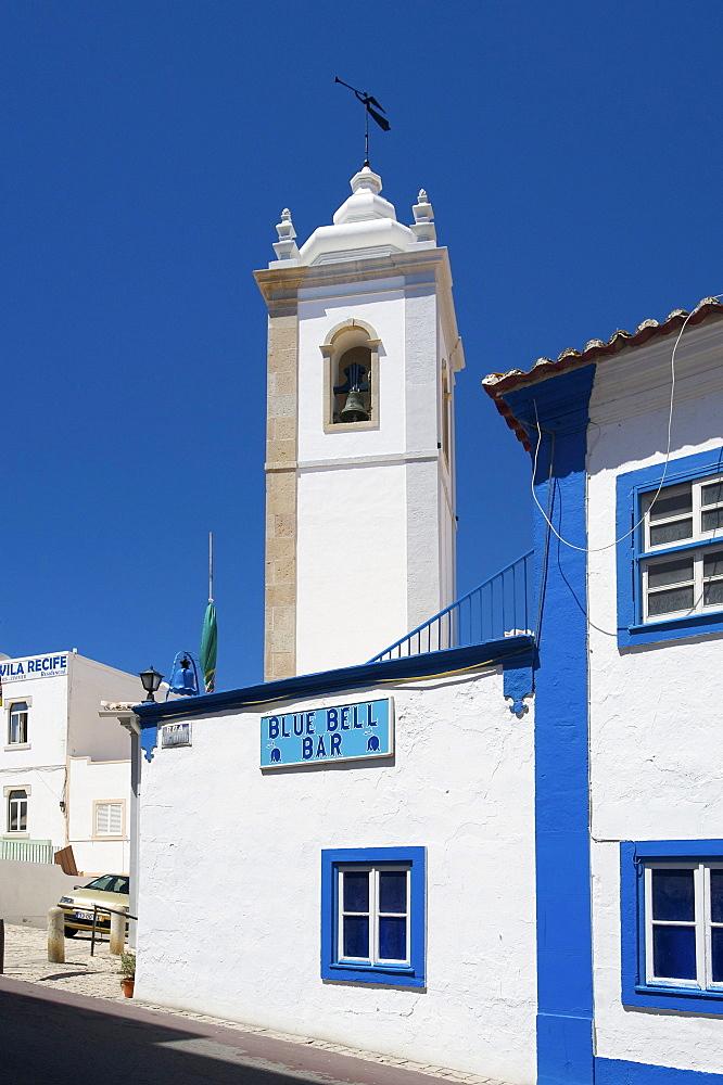 Church steeple in Albufeira, Algarve, Portugal, Europe