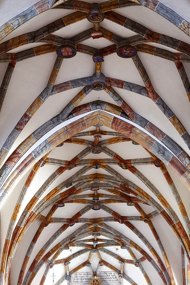 Reticulated vault in the collegiate church, Stift Millstatt convent, Carinthia, Austria, Europe