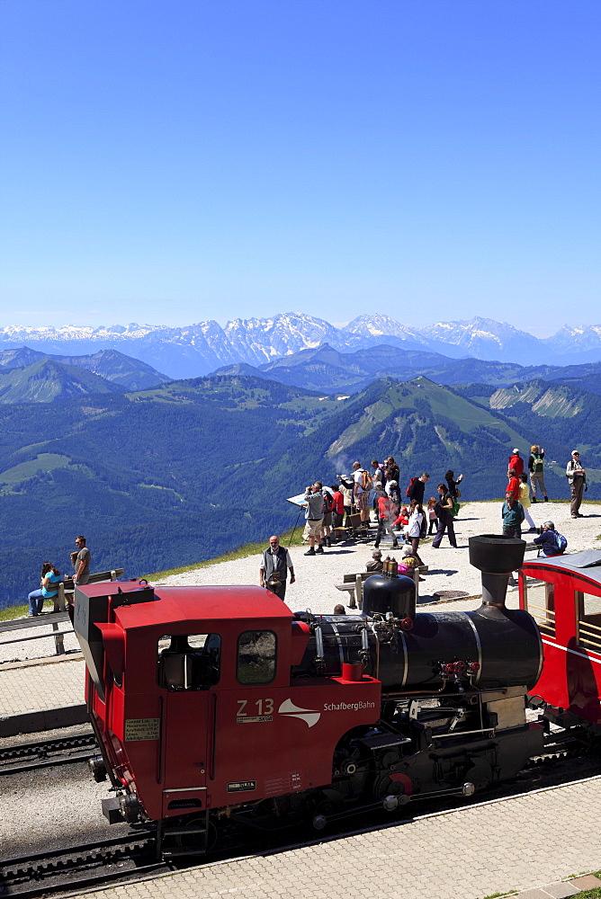 Schafbergbahn mountain train, Schafberg mountain, Salzkammergut region, Salzburg Land state, Austria, Europe