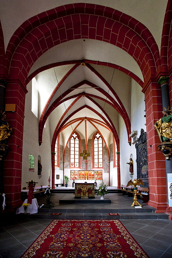 The The The The The The abbey of Sayn with the abbey church, Sayn, Koblenz Rhineland-Palatinate, Germany, Europe