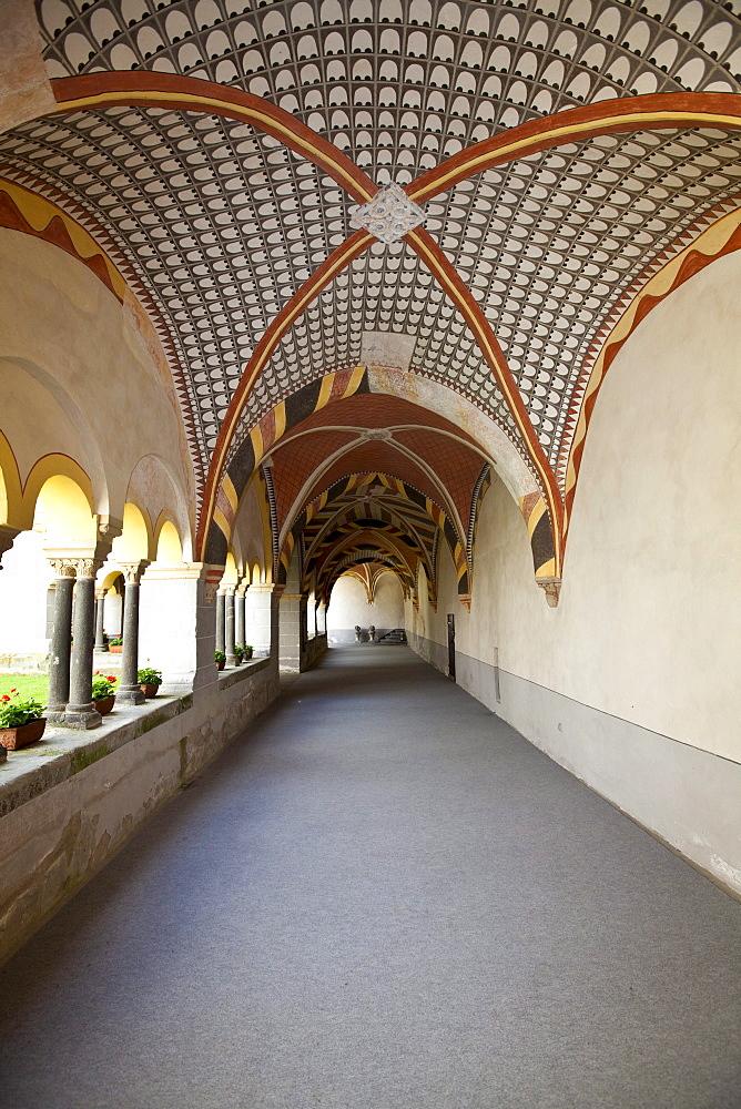 The abbey of Sayn with cloister, Sayn, Koblenz, Rhineland-Palatinate, Germany, Europe