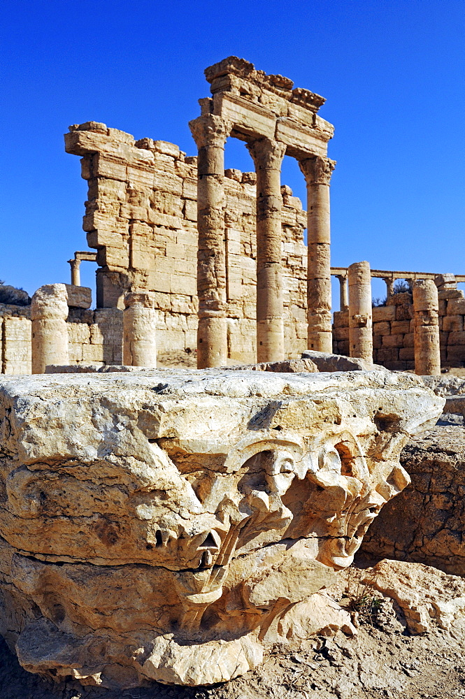 Ruins of the Palmyra archeological site, Tadmur, Syria, Asia