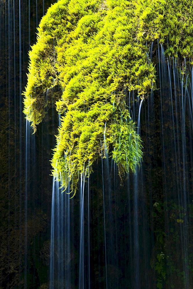 Schleierfaelle waterfalls, Ammergau, Upper Bavaria, Bavaria, Germany, Europe