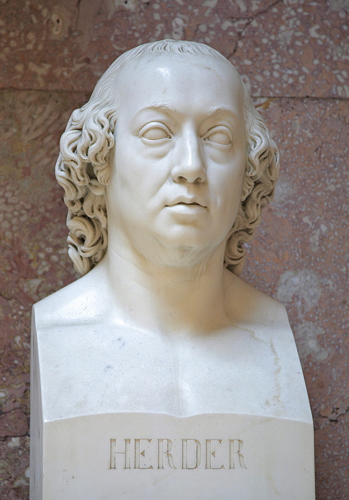 Bust of Johann Gottfried von Herder, German poet, critic and theologian of the German Classic Period