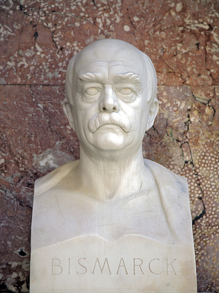 Bust of Otto von Bismarck, first German chancellor