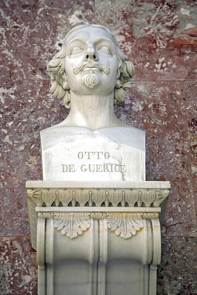 Bust of Otto von Guericke, German natural philosopher and engineer