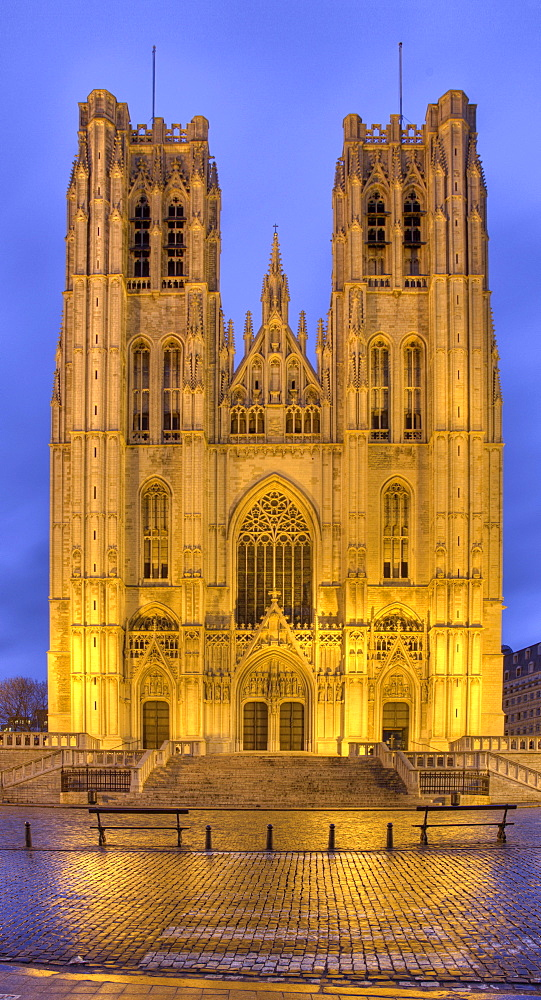 St. Michael and Gudula Cathedral, Brussels, Belgium, Europe
