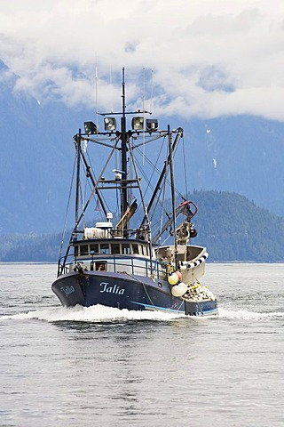 Fishing boat in Inside Passage, Southeast Alaska, USA