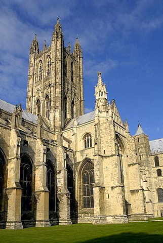 Canterbury Cathedral, seat of the primate of the Anglican church, South England, United Kingdom, Europe