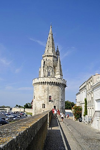 Tour de la Lanterne, tower, defence wall, harbour, La Rochelle, Poitou Charentes, France, Europe