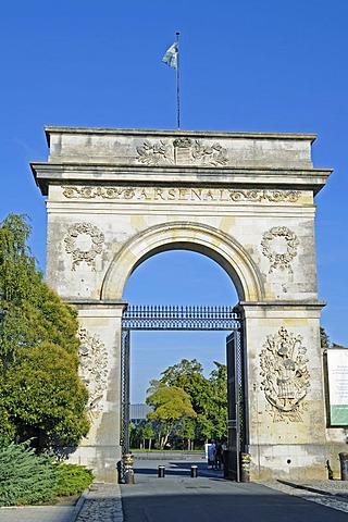 Archway, Arsenal Maritim, Marine Museum, maritine museum, Rochefort, Poitou Charentes, France, Europe