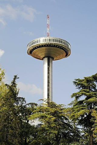 Faro de Moncloa, Moncloa Tower, transmission tower with an observation deck, Madrid, Spain, Europe
