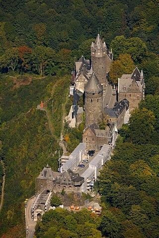 Aerial photo, Altena Castle, Lenne River, Altena, Maerkischer Kreis, Sauerland, North Rhine-Westphalia, Germany, Europe