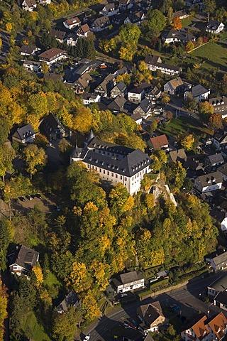 Aerial photo, Burg Bilstein, Bilstein Castle, Bilstein, Lennestadt, Sauerland, North Rhine-Westphalia, Germany, Europe