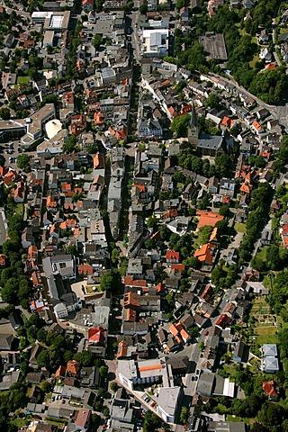 Aerial photo, city center ring, Menden, Maerkischer Kreis, Sauerland, North Rhine-Westphalia, Germany, Europe