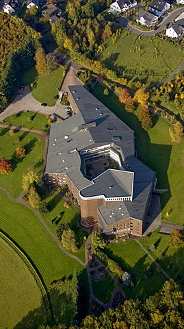 Aerial photo, convent of the Franciscan nun order of the Eternal Worship in Olpe, Sauerland, North Rhine-Westphalia, Germany, Europe