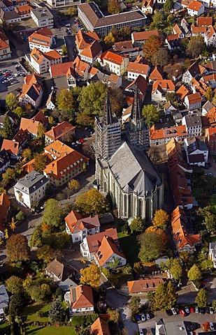 Aerial photo, Wiesenkirche church, Soest, Kreis Soest, Soester Boerde, South Westphalia, North Rhine-Westphalia, Germany, Europe