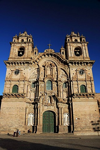 The Company of Jesus Church, La Compania de Jesus, Plaza de Armas, Cusco, Peru, South America
