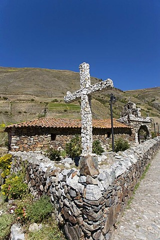 Cross, chapel of the artist Juan Felix Sanchez, San Rafael, Mucuchies, Venezuela, South America