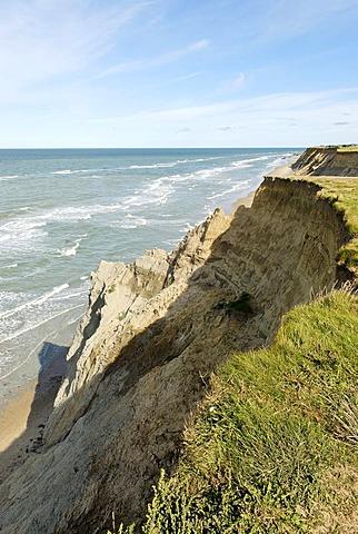 Steep coast near Lonstrup, Jutland, Denmark, Europe