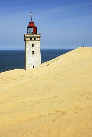 Lighthouse near Rubjerg Knude on the west coast of Denmark, Scandinavia, Europe