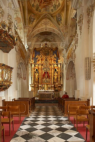 Stift Ossiach Abbey collegiate church, interior, Carinthia, Austria, Europe