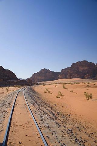 Hejaz Railway, Wadi Rum, Jordan, Southwest Asia