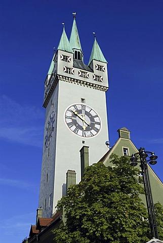 Straubing City Tower, Lower Bavaria, Germany, Europe
