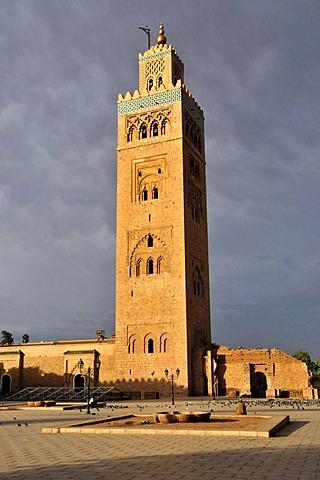 Minaret of the Koutoubiya Mosque, Marrakesh, Morocco, Africa