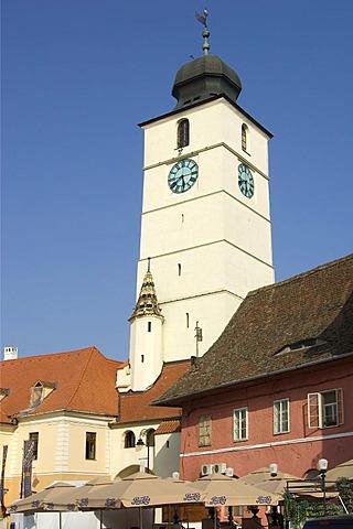 Old Council Tower, Sibiu, Transylvania, Romania