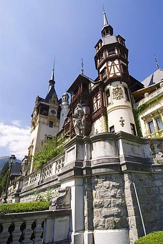 Peles Castle, Simiu, Wallachia, Carpathian Mountains, Romania